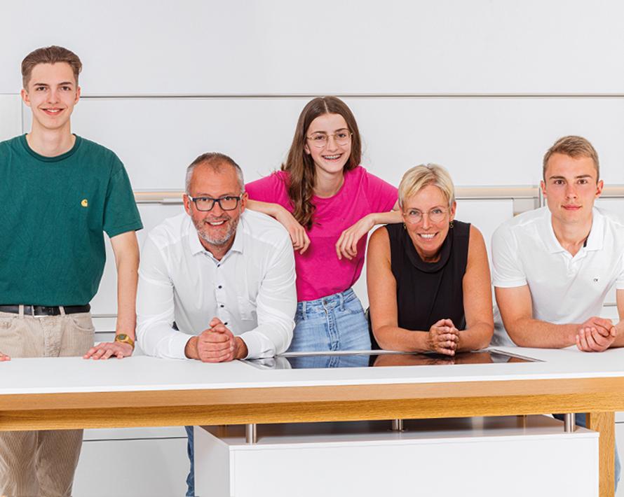 Gruppenfoto der Familie Specht